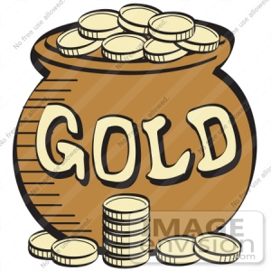29405-royalty-free-cartoon-clip-art-of-a-stack-of-gold-coins-near-a-pot-of-leprechauns-gold-by-andy-nortnik