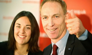 Jim Murphy, who was elected leader of Scottish Labour last December, and his deputy Kezia Dugdale.