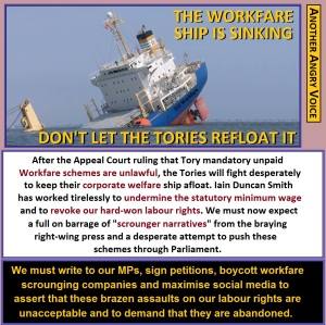 Workfare sinking ship