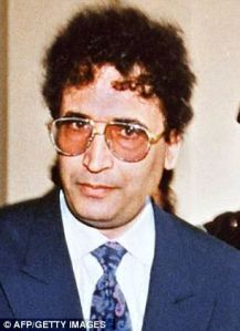 al-Megrahi at the time of his arrest for the Lockerbie bombing