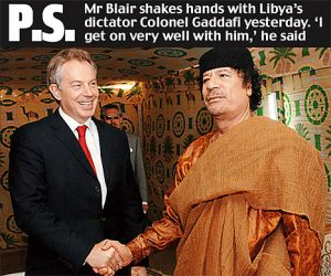 blair-gadaffi Just Good friends