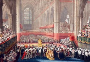 Coronation of George IV, 1821, Westminster Abbey.