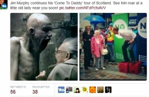 jim murphy roars at old lady