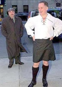 McConnell in kilt