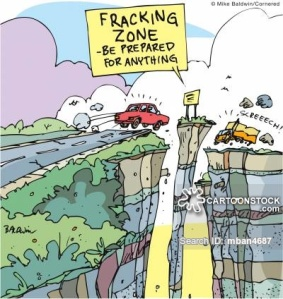 'Fracking zone. Be prepared for anything.'