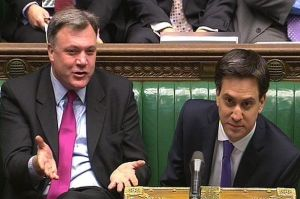 Ed Miliband and shadow chancellor Ed Balls