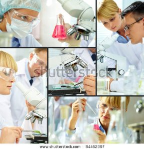 stock-photo-collage-of-clinicians-studying-new-substance-in-laboratory-84462397