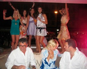 Collect photos showing Vincent Tchenguiz yacht and Villa in St Tropez France. Pix : Models dance on the deck with  Ukrainian model on Right ( No 1 girl ) and his friend sit with him  Copyright Photo  not know sent by Les Wilson UK mobile  07966 155 905  11.3.2011