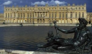 Opulent surroundings Revellers at the Palace of Versailles feasted on a cordon bleu banquet and were se