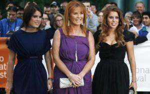 """Young Victoria Gala Screening - 2009 Toronto International Film Festival...TORONTO - SEPTEMBER 19: (L-R) Princess Eugenie Ferguson, Sarah Ferguson,the Duchess of York, and Princess Beatrice Ferguson attend the premiere of """"Young Victoria"""" at the Roy Thompson Hall as part of the Toronto International Film Festival on September 19, 2009 in Toronto, Canada. (Photo by Jim Ross/Getty Images)"""