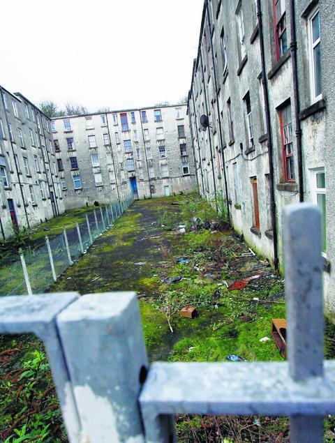 Clune Park flats.