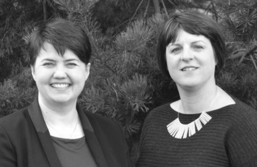 Katie Mackie with Ruth Davidson